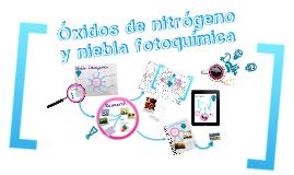 Óxidos de nitrógeno y niebla fotoquímica