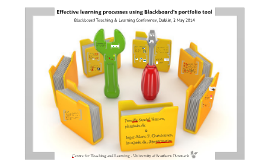 Effective learning processes using Blackboard's portfolio tool
