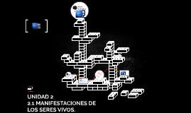 UNIDAD 2 MANIFESTACIONES DE LOS SERES VIVOS.