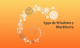 Apps de Windows y Blackberry