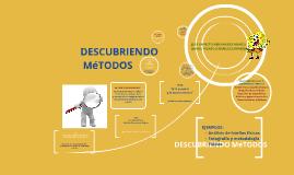 DESCUBRIENDO MéTODOS