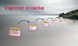 Grupprocesser och ledarskap