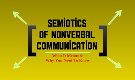 Semiotics of Nonverbal Communication