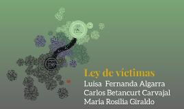 Ley de víctimas