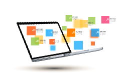 Business laptop Prezi template