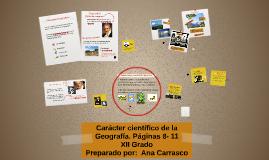 XII Carácter científico de la Geografía  1