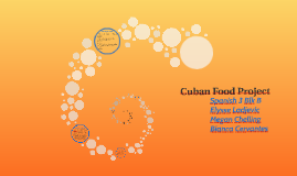 Cuban Food Project
