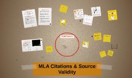 MLA Citations & Source Validity