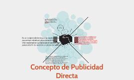 Concepto de Publicidad Directa