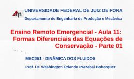 MEC051 - DINÂMICA DOS FLUIDOS - AULA 12