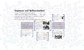 """""""Exposure"""" and """"Belfast Confetti"""""""
