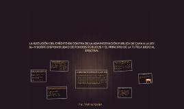 LA EJECUCION DEL CREDITO EN CONTRA DE LA ADMINISTRACION PUBL