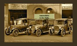 Age of Automobiles 1920s