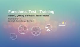 Functional Test - Training