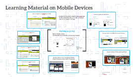 Learning Material on Mobile Devices
