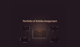 Portfolio of Articles Assignment