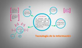 Copy of TECNOLOGIA DE LA INFORMACIÓN