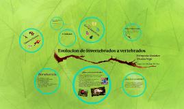 Copy of Evolucion de invertebrados a vertebrados