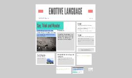 Copy of EMOTIVE LANGUAGE