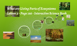 What are Living Parts of Ecosystems