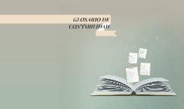 GLOSARIO DE CONTABILIDAD