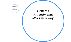 How the Amendments affect us today.