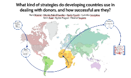 What kind of strategies do developing countries use in dealing with donors, and how successful are they?
