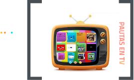 PAUTAS EN TV