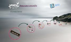 EUCU Announcements 17/02/2014