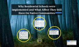 Why Residential schools were implemented and what affect they have on native communities in present day