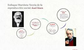 Enfoque Marxista: Teoría de la reproducción social. Karl Mar