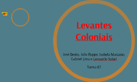 Levantes Coloniais