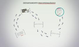 DEPARTAMENTO PSICOPEDAGÓGICO