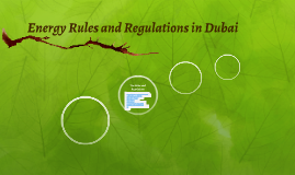 Energy Rules and Regulations in Dubai