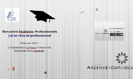 Rencontre Etudiants-Professionnels, Université de la manouba