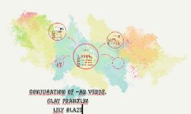 conjugation of –ar verbs.