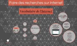 Vocabulaire de l'Internet
