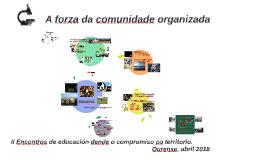 II Encontros de educación dende o compromiso co territorio. Ourense, abril 2018