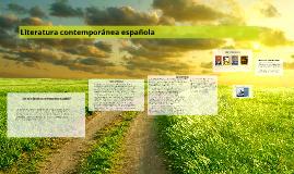 Copy of LITERATURA CONTEMPORANEA ESPAÑOLA
