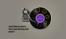 should students be allowed to listen to music while doing sc