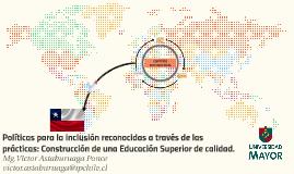 Políticas para la inclusión reconocidas a través de las prá