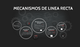 Copy of MECANISMOS DE LINEA RECTA