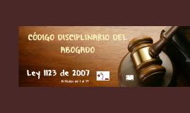 Código disciplinario del Abogado