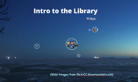 Intro to the library- 2015 fall COA