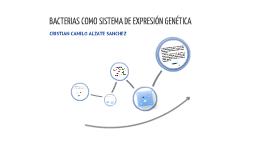 Bacterias como sistema de expresión genética