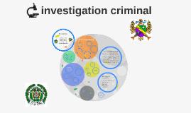 investigation criminal