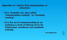 Oral Interpretation of Literature by Derika Webster on Prezi