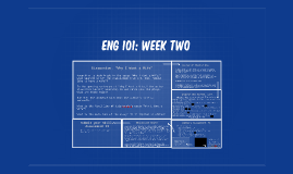 ENG 101: Week Two