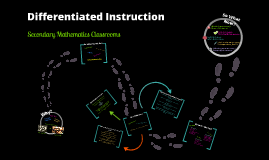 Differentiated Instruction: Mathematics