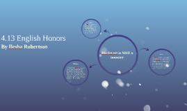 4.13 English Honors